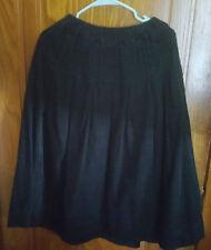 Dark Navy Corduroy Mori Girl Skirt w/ Pockets