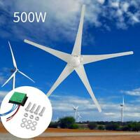 500W 5 Blades 12V Horizontal Wind Turbine Generator Power+ Charge Controller