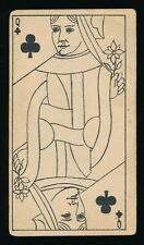 1888 N233 Kinney TRANPARENT PLAYING CARDS (53) -Queen (Q) Clubs -Man Image