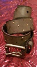 "Mens/ Gents Police leather grey Belt, 32""-36"" size☆⭐️"