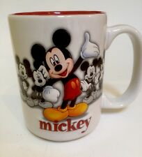 Mickey Mouse Disneyland Coffee Tea Mug Red White Ceramic Disney Resort Souvenir