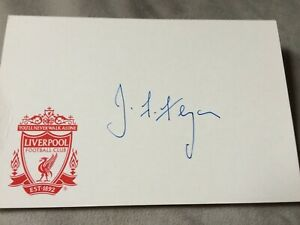 Joe Fagan - Legendary Liverpool Manager Signed Liverpool Card