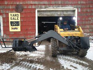 "46"" Skidsteer Boom brush bank mower skid steer bobcat cat"