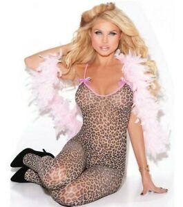 Womens Plus Size Leopard Print Bodystocking - Fits Size 14-18