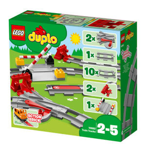 Lego Duplo Train Tracks Railway Set with Action Brick 10882 Ages 2-5 Years
