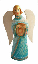 Wood Carved Made Hand - Angel - Crafts Russian Painted by Loutskiy Piece Unique