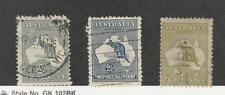 Australia, Postage Stamp, #45-47 Used, 1915 Kangaroo