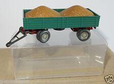 WIKING HO 1/87 ANHÄNGER REMORQUE AGRICOLE FARM TRAILER + REMPLIE DE GRAINS box