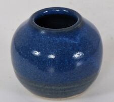 Walter Dexter RCA Studio Pottery Vase Blue Canadian Listed 1931-2015