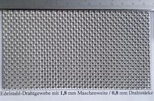 Edelstahl Drahtgeflecht mit 1,8mm Maschenweite, 0,8mm Drahtstärke, 200 mmx300mm
