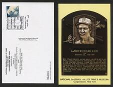 JIM RICE RED SOX HOF POSTCARD INDUCTION DAY PM 7/26/09 POSTMARK COOPERSTOWN FDC