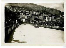 PHOTO ORIGINAL VINTAGE-G.P. AUTOMOBILES DE MONACO 1931-BUGATTI T35C N°56 STUBER