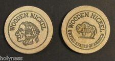 VINTAGE WOOD NICKEL TOKEN / FILATELIA FRANCAR / 1970 MAYAGUEZ  PUERTO RICO