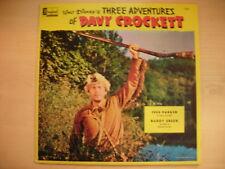Disney's THREE ADVENTURES OF DAVY CROCKETT LP 60s