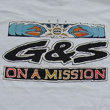 G&S / Gordon & Smith Vintage Surf Tee Shirt - Original 80s Surfing Retro - M-MIS