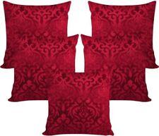 5 Pcs Velvet Coffee Maroon Cushion Covers 16x16 Set of 5 (40X40 Cm)