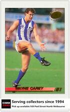1994 Select AFL Trading Card Serie Gold Card -G17: Wayne Carey (Nth. Mlebourne))