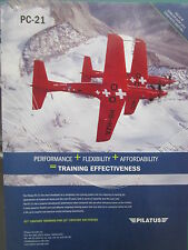 11/2011 PUB PILATUS PC-21 TRAINER SWISS AIRCRAFT ALPES ORIGINAL FLUGZEUG AD