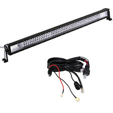 42 INCH LED Work Light Bar 3 Rows Combo+Wiring Kit For SUV 4WD ATV Tractor Boat