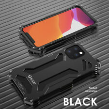 R-JUST Shockproof Aluminium Metal Back Cover Case For iPhone 12 Pro Max/11/Xs/Xr