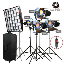 Pro Dimmer Built-in 150+300X2+650w+softbox Fresnel Tungsten Spot light Kit