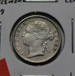 Straits Settlements 1889 10 Cents silver  S0284 combine shipping