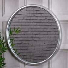 Large Round Silver Mirror Wall Mounted Living room Bedroom  Hallway 60cm x 60cm