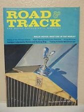 VINTAGE ROAD AND TRACK MAGAZINE SEPTEMBER 1960 ROLLS ROYCE SILVER CLOUD II