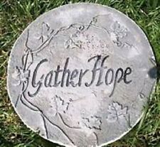 Plastic mold stepping stone garden plaque religious mould
