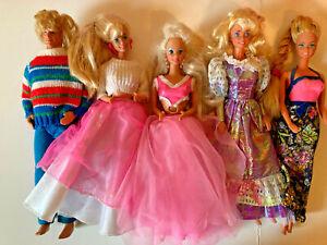 Barbie Doll Rockers Superstar Era 1980's Vtg Lot 5 j