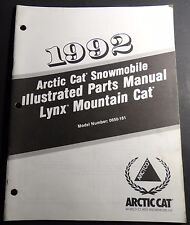 1992 ARCTIC CAT SNOWMOBILE LYNX MOUNTAIN CAT P/N 2254-743 PARTS MANUAL (126)
