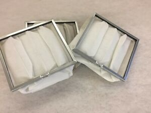 3 Stk. Taschenfilter Filtec (G4) Maße: 385 x 350 x 360mm Metallrahmen 25mm