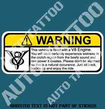 V8 ENGINE FUNNY WARNING DECAL STICKER HUMOUR FUNNY HOTROD NOVELTY DECAL STICKERS