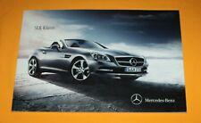 Mercedes SLK-Klasse 2011 Prospekt Brochure Folder Catalog Prospetto Depliant