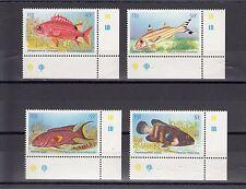 TIMBRE STAMP 4 ILES FIJI FIDJI Y&T#527-30 POISSON FISH NEUF**/MNH-MINT 1985 ~A54