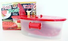 Microwave Pasta Boat Steams & Cooks Perfect Pasta Vegetables Rice PotatoesNew!