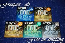 5 x TOP QUALITY TDK MD-C74 BLANK AUDIO MINIDISCS - 74 MINUTES - NEW IN CASES