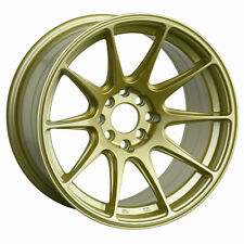 XXR 527 17X9.75 Rims 4x100/114.3 +25 Gold Wheels Aggressive Fits 4 Lug 240sx