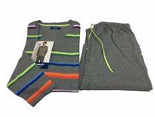 GUASCH pigiama uomo uomo grigio/multicolor 100% cotone L-50