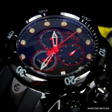 Invicta Reserve Venom Red Line Swiss Made Chronograph 52mm Black Watch New