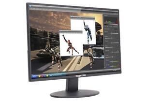 "Gaming Monitor PC Computer LED 20"" Screen Desktop HDMI DVI VGA LED Speakers Vesa"