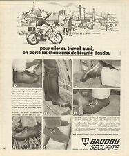 Publicité 1972  Chaussures de sécurité Baudou pret à porter collection botte