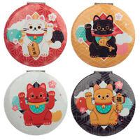 Collectable Lucky Cat Maneki Neko Compact Mirror Pocket Handbag