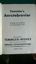 Temmler Werke Berlin - Aerzte Brevie - 1932