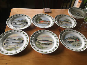 "Portmeirion ""Compleat Angler"" Dinner Plate Set"