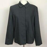 Amanda Smith Gray Wool Blend Blazer Jacket Size 12