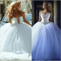 White/Ivory Wedding Dress Bridal Gown Custom UK Size 6-8-10-12-14-16-18-20-22+++