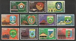 INDONESIA 2009 PROVINCIAL EMBLEMS COMP. SET OF 11 STAMPS IN MINT MNH UNUSED