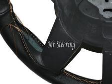 Pour PEUGEOT 308 véritable en cuir italien noir volant couverture beige Stitch