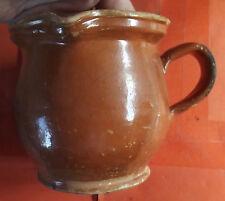 Ancien Pichet terre cuite du Val de Saône Pot de lait ou vin 1920